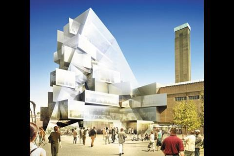 Herzog & de Meuron's old design for the Tate Modern extension